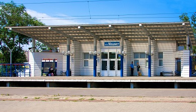 Строительство посадочных платформ и павильона с обустройством турникетным оборудованием на остановочном пункте «Машмет» Юго-Восточной железной дороги