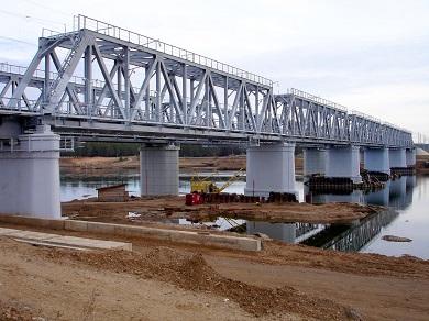 Строительство мост через реку Чуна на 124км линии Тайшет – Лена Восточно-Сибирской железной дороги