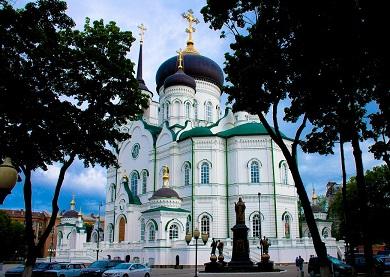 Строительство благовещенского кафедрального собора в г. Воронеже