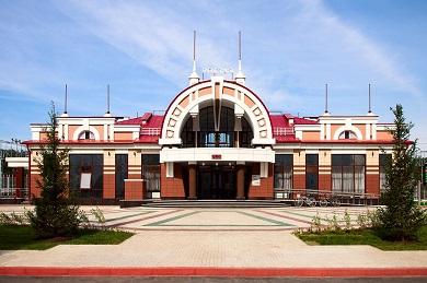 Строительство вокзала на станции Сеятель Западно-Сибирской железной дороги