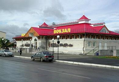 Строительство вокзала станции Алатырь Горьковской железной дороги