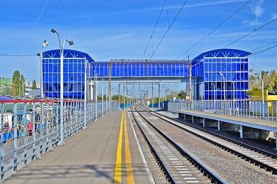 Строительство пешеходного моста на остановочном пункте Машмет Юго-Восточной железной дороги