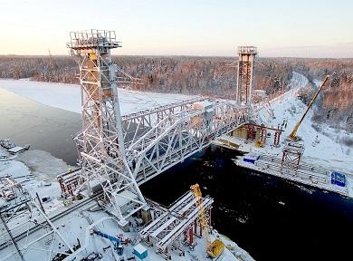 Реконструкция разводного моста через реку Свирь на 284 км линии Волховстрой – Мурманск Октябрьской железной дороги