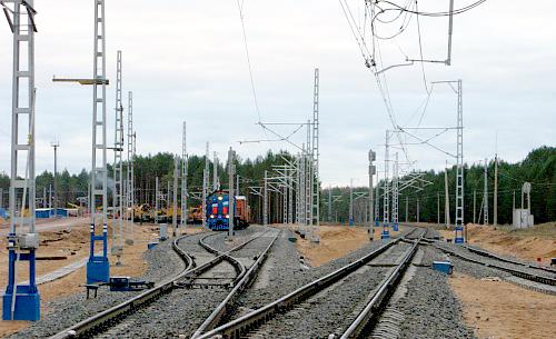 Строительство нового железнодорожного участка Яйва-Соликамск Свердловской железной дороги в обход района техногенной аварии