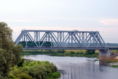 Строительство железнодорожного моста через реку Нерль на 202 км участка Москва – Нижний Новгород Горьковской железной дороги