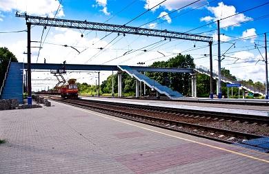 Строительство пешеходного моста на станции Беленихино Юго-Восточной железной дороги