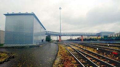 Строительство пешеходного моста на станции Йошкар-Ола Горьковской железной дороги